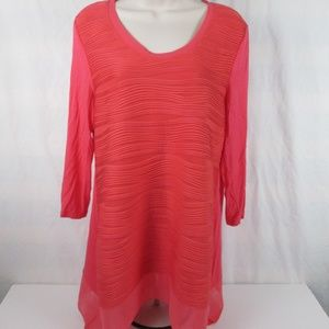P Luca Milano 3/4 Sleeve Top Size M